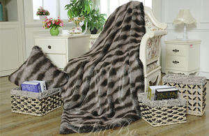 New Design 100% Polyester Custom Printed Faux Fur Blankets