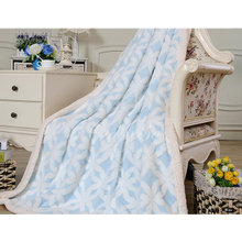 China Factory Customized Soft Touch Extra Thick Fleece Blanket