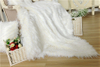 Double Layer White Throw Plush Blanket