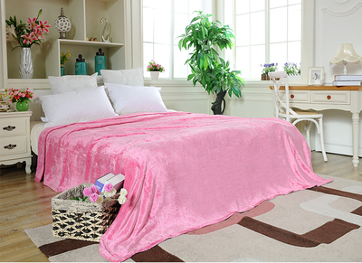 Home Comfort Pink Flannel Blanket for Bedding