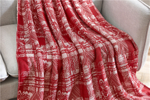 Various Good Quality Jacquard Knitting fabric 100% polyester throw blanket