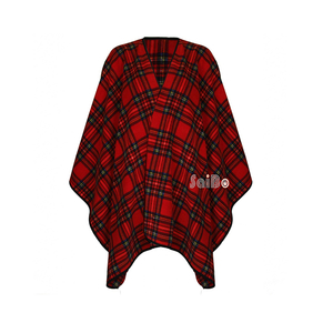Printed Polar Fleece Softextile Plaid Blanket Scarf