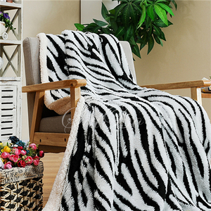 Double Layers Heavy Printed Sherpa Blanket