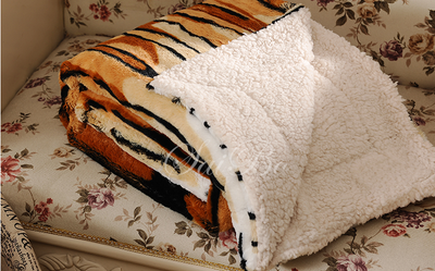 Winter Latest Blanket Faux Fur Fabric 100% Polyester