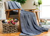 100% Polyester Knitted Cationic Effect Blanket