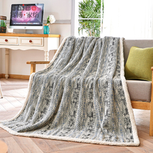 Custom Hot Sell Best Fancy Jacquard Airline Flannel Blanket