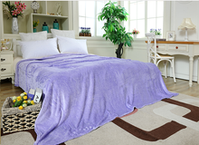 Soft Warm Solid Color Purple Bedding Blanket